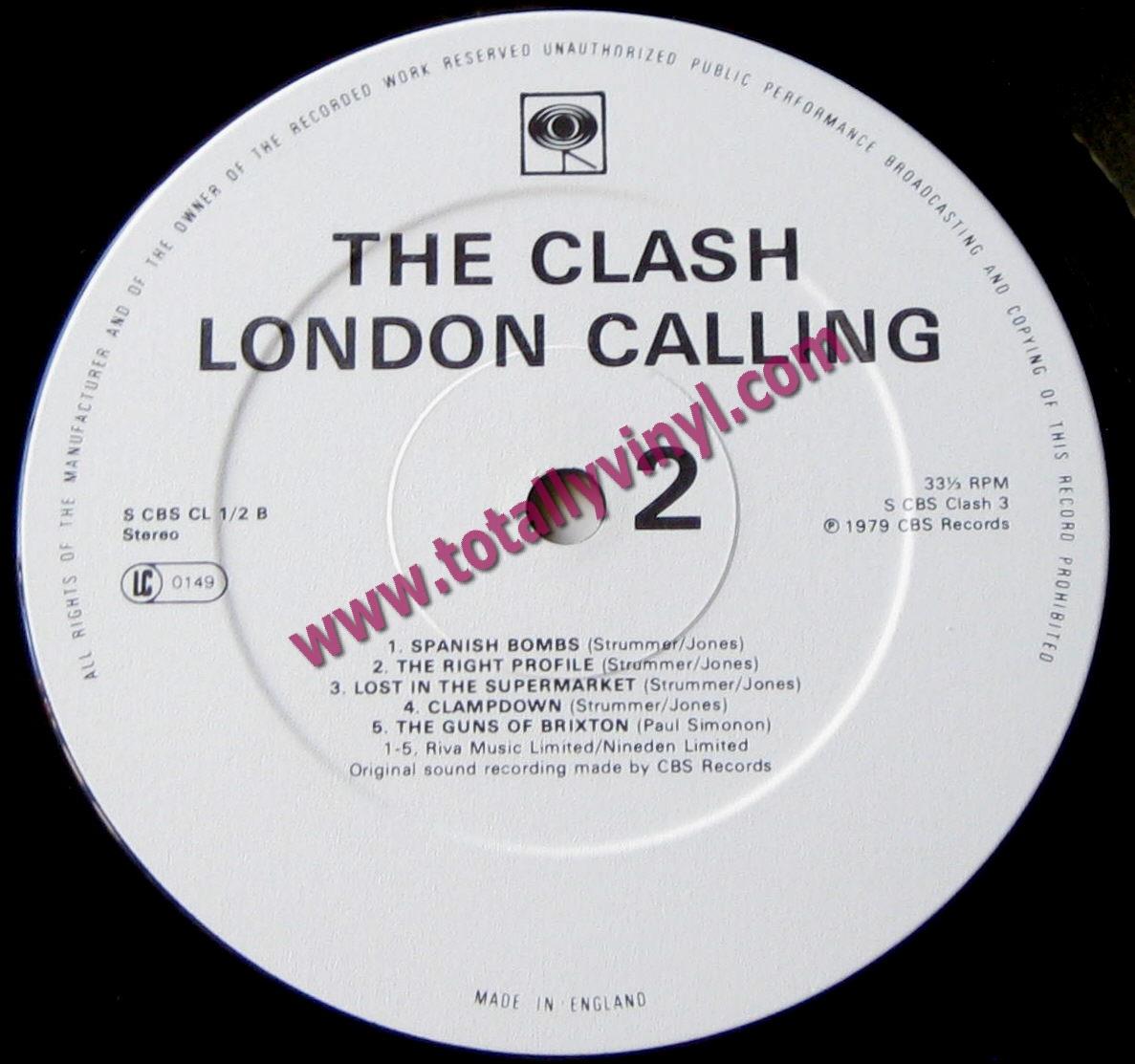 Totally Vinyl Records Clash The London Calling Lp
