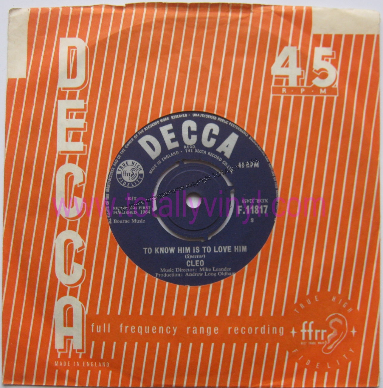 Cleo Andrew Oldham Orchestra The To Know Him Is To Love Him There Are But Five Rolling Stones