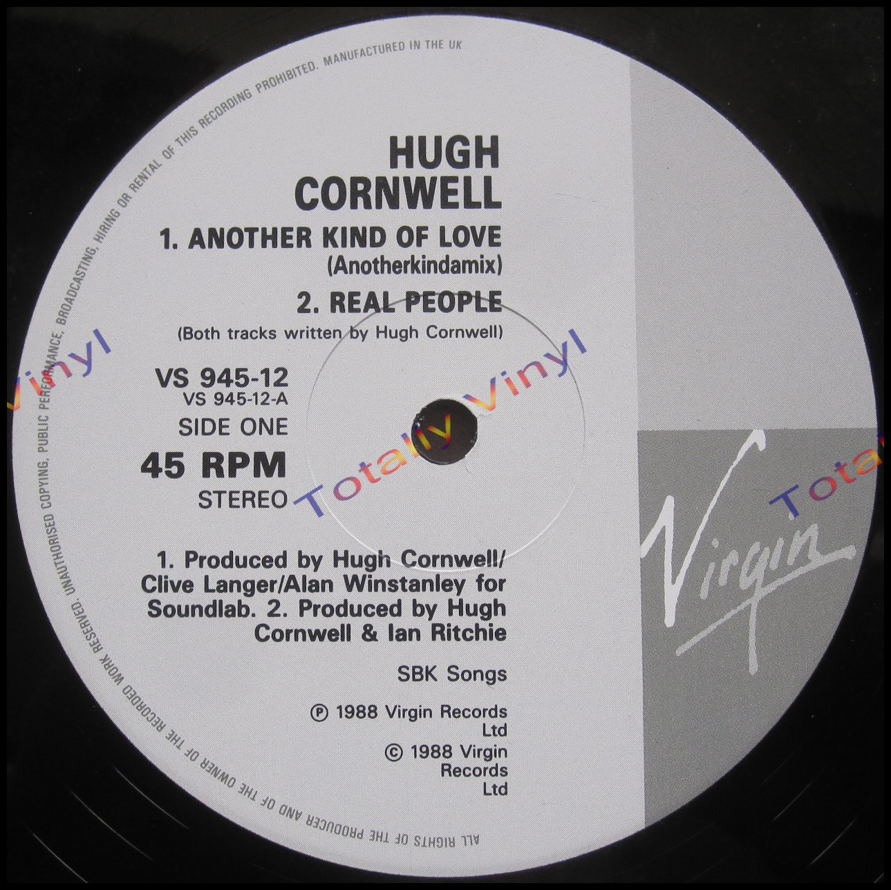 Totally Vinyl Records Cornwell Hugh Another Kind Of