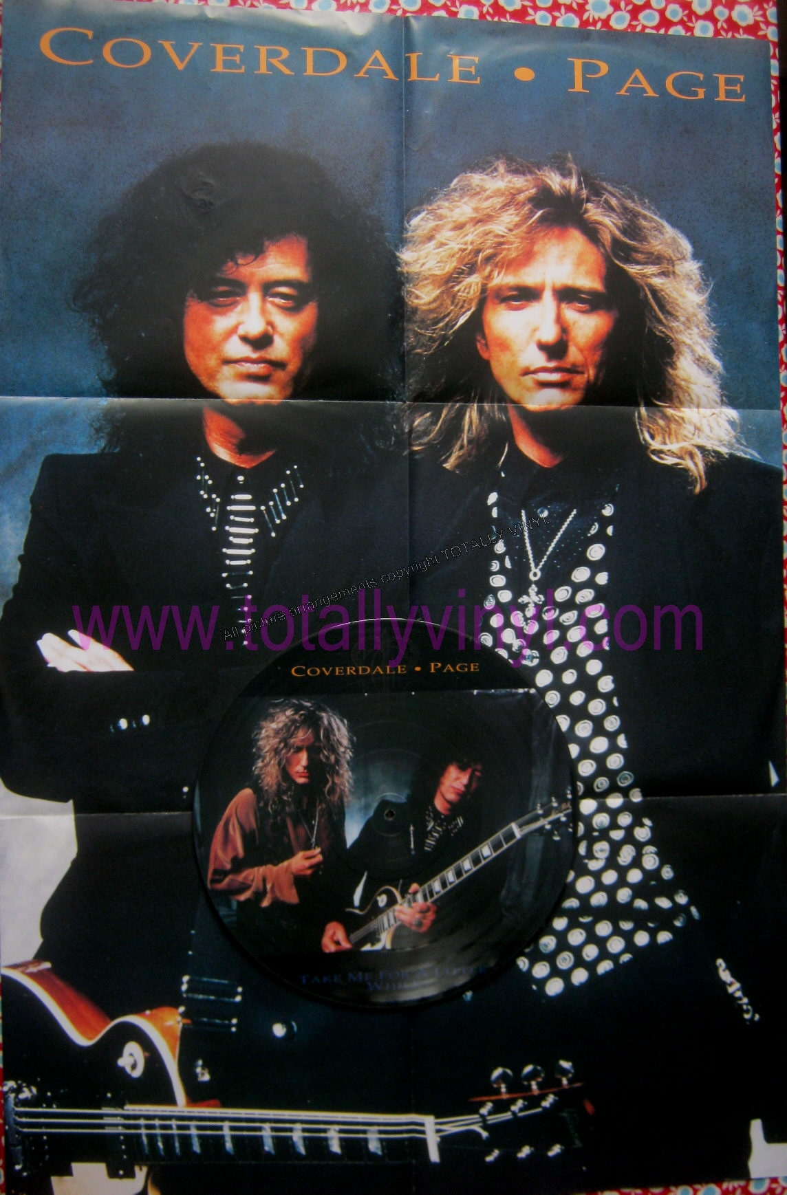 Totally Vinyl Records Coverdale Page Take Me For A