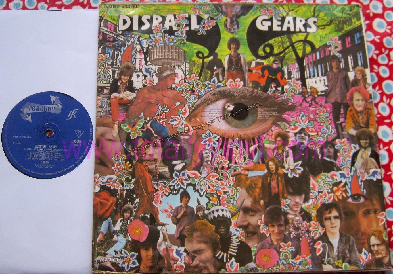 Totally Vinyl Records Cream Disraeli Gears Lp