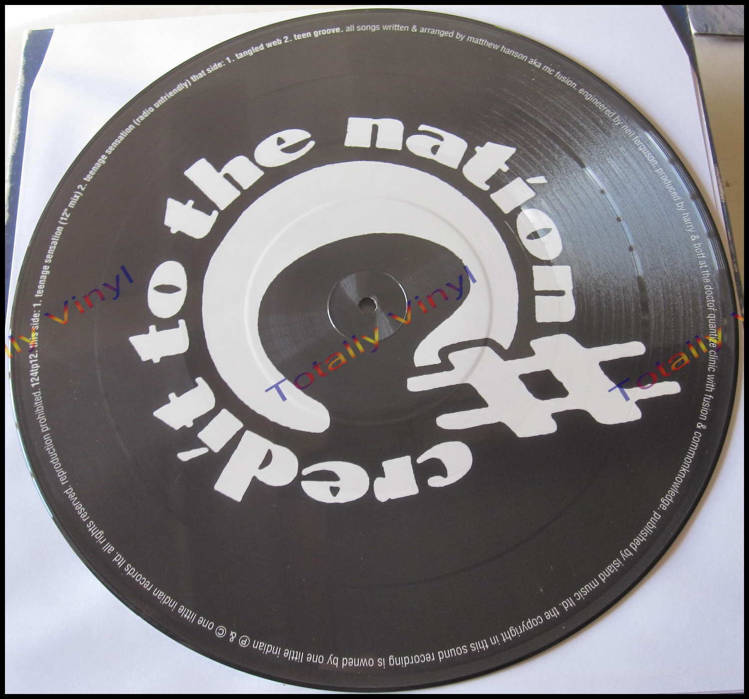 Totally Vinyl Records Credit To The Nation Teenage