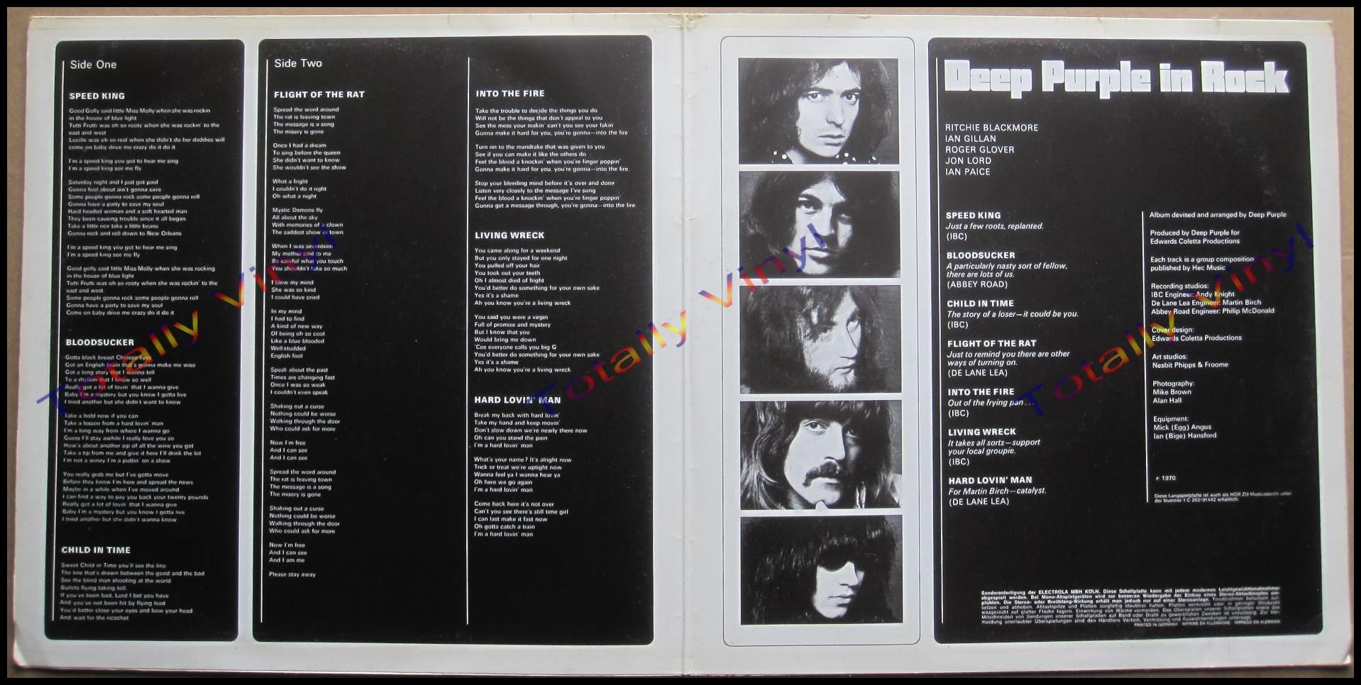 Totally Vinyl Records Deep Purple Deep Purple In Rock Lp