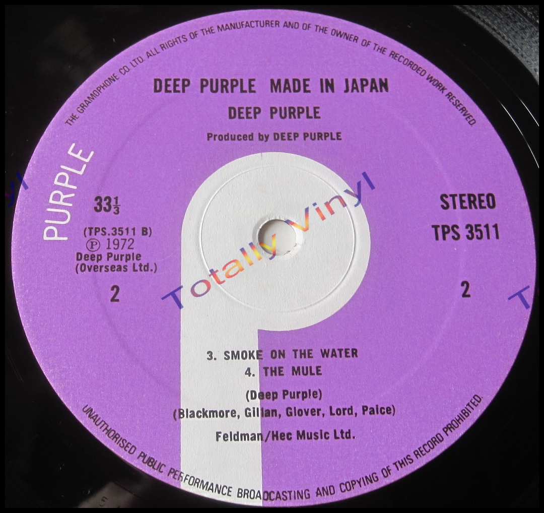 Totally Vinyl Records Deep Purple Made In Japan