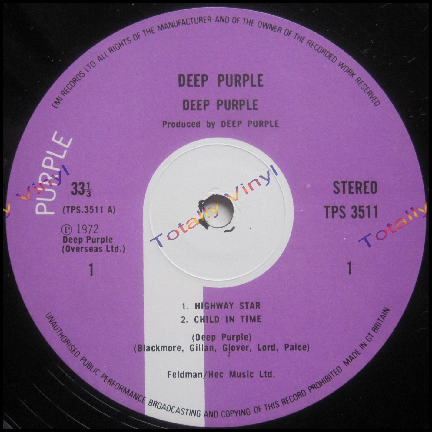 Totally Vinyl Records Deep Purple Made In Japan Deep
