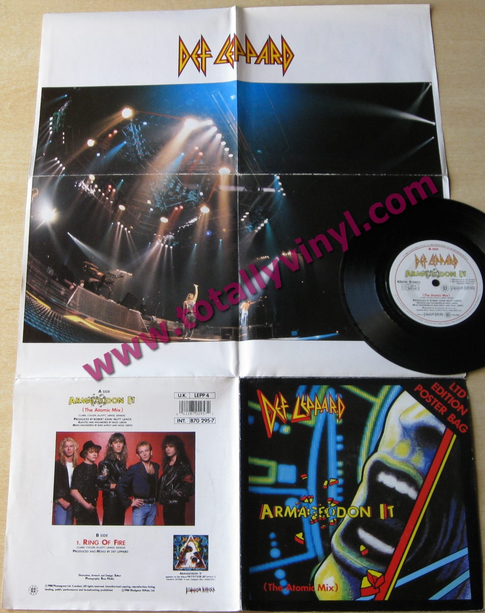 Totally Vinyl Records || Def Leppard - Armageddon it (the atomic mix