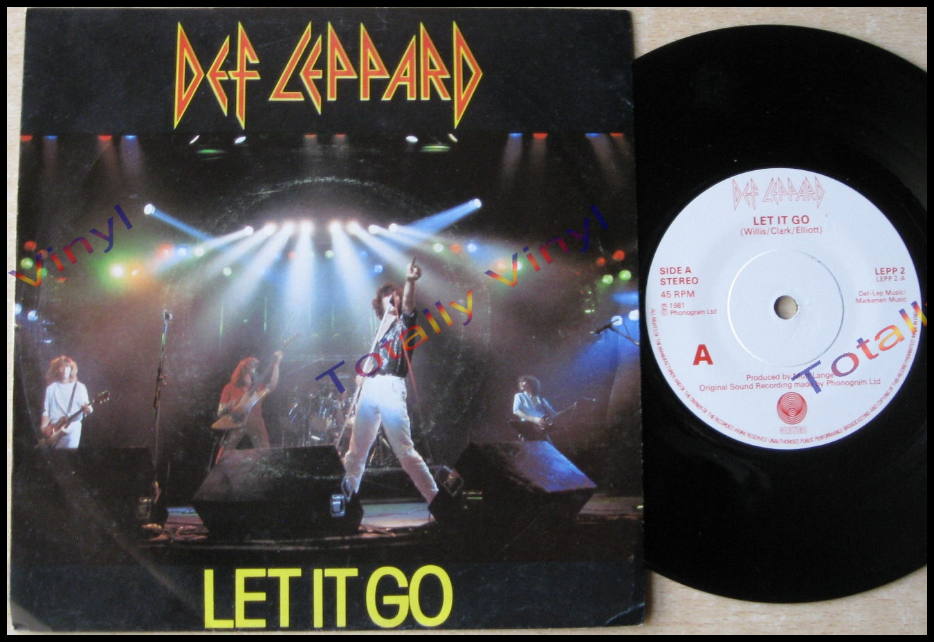 Totally Vinyl Records || Def Leppard - Let it go / Switch 625 7 Inch
