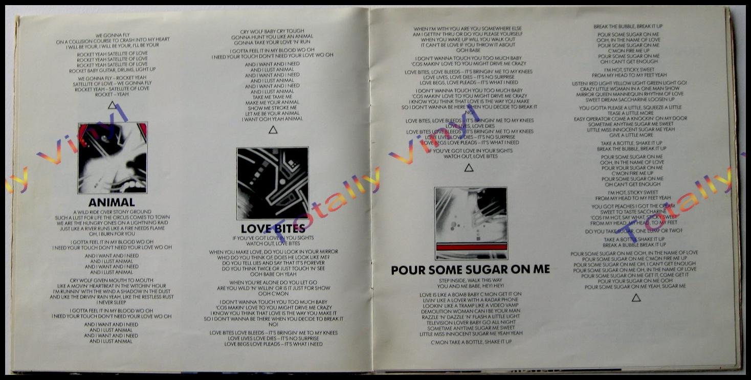 Totally Vinyl Records || Def Leppard - Love bites / Billy's