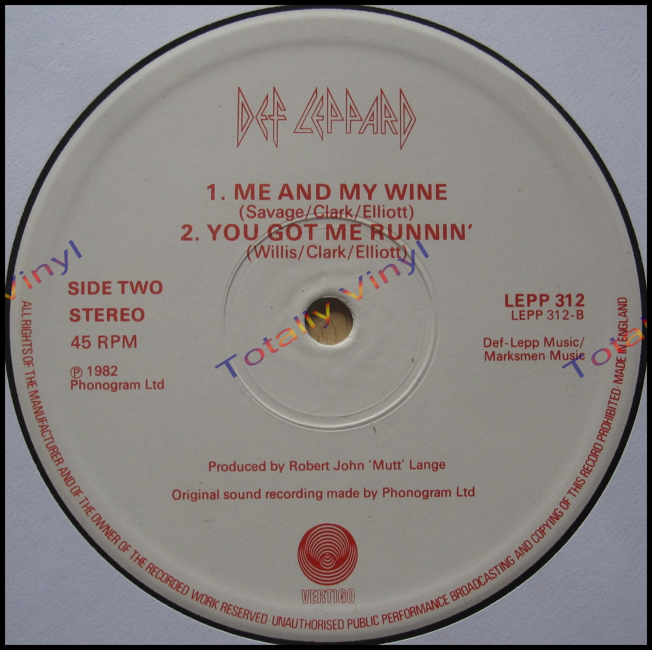 Totally Vinyl Records || Def Leppard - Bringin' on the