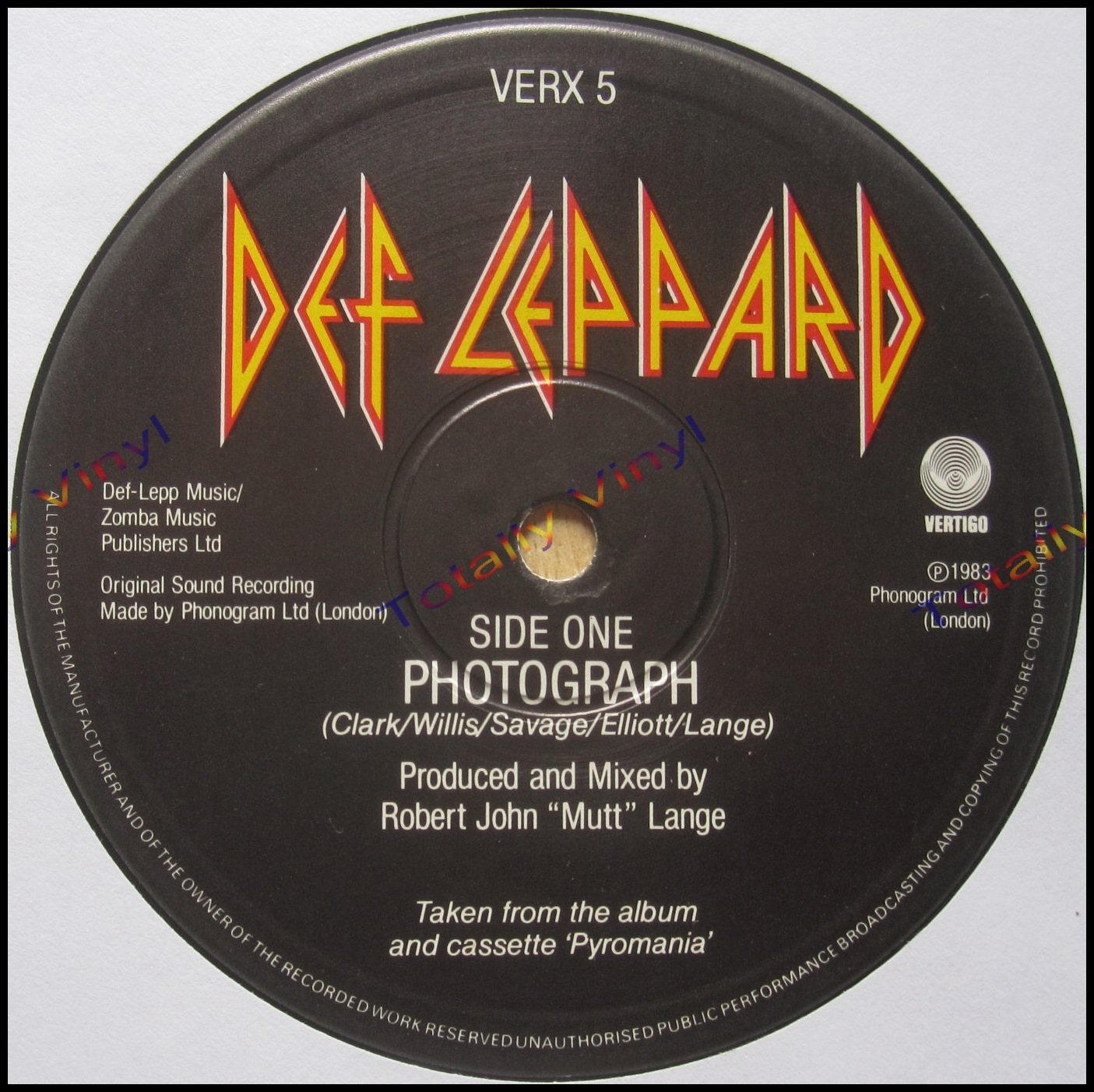 Totally Vinyl Records    Def Leppard - Photograph / Bringin' on the