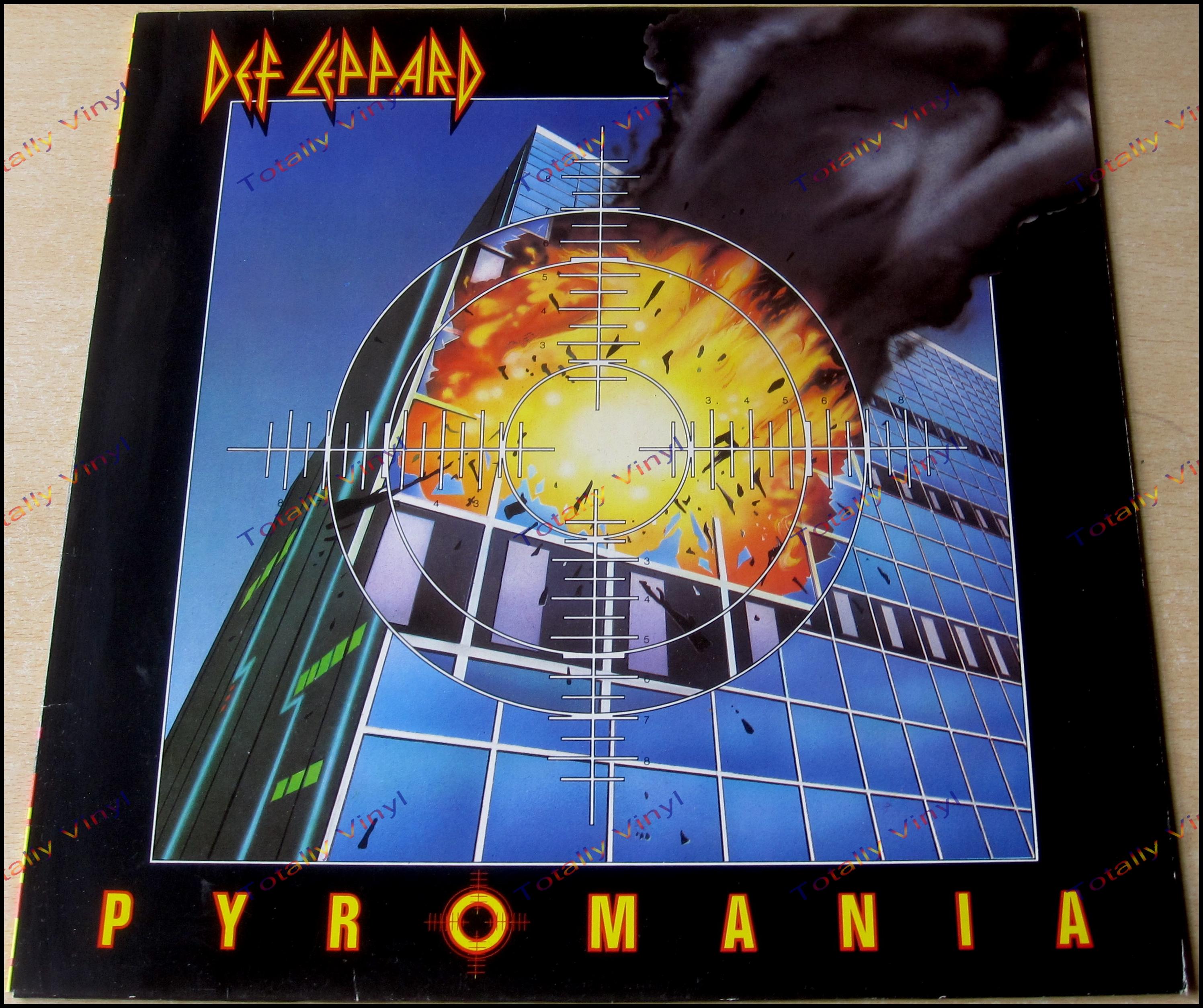 Totally Vinyl Records Def Leppard Pyromania Lp