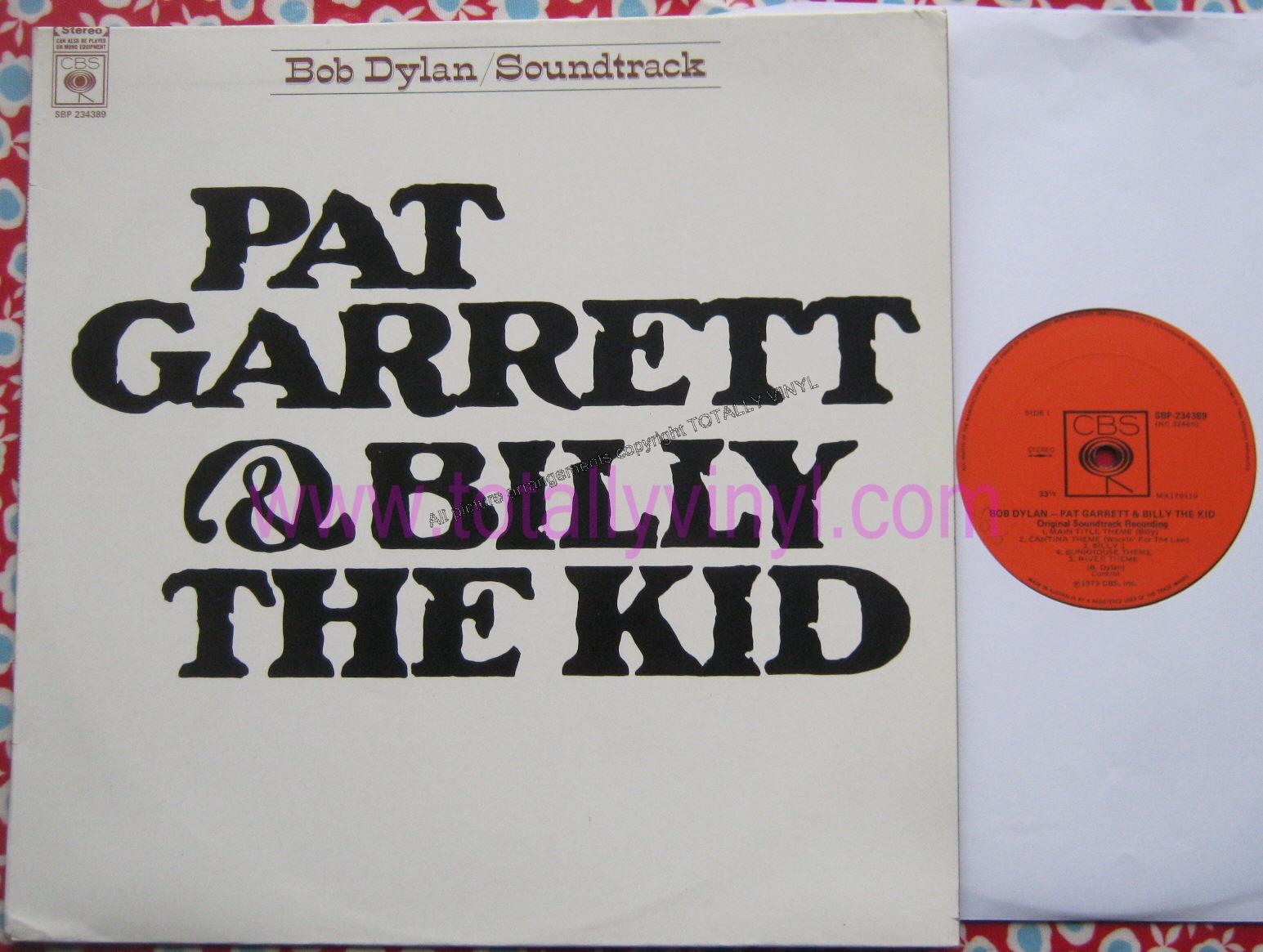Totally Vinyl Records Dylan Bob Pat Garrett And