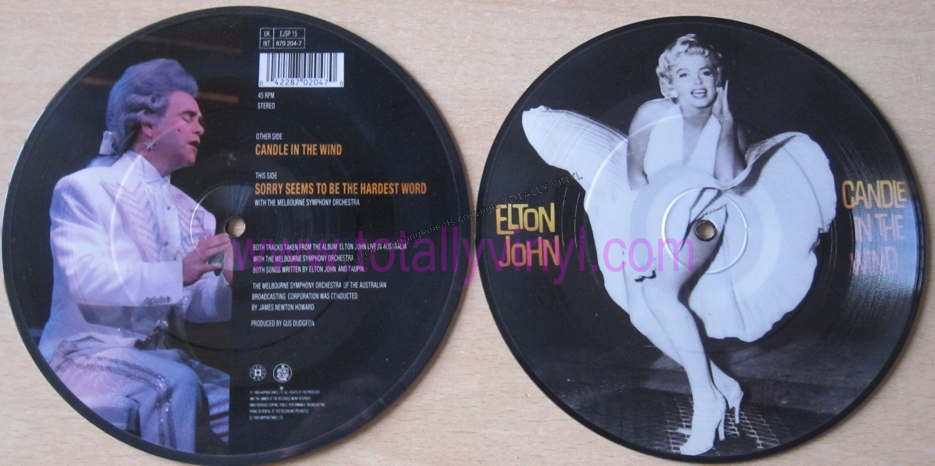 Totally Vinyl Records || John, Elton - Candle in the wind 7