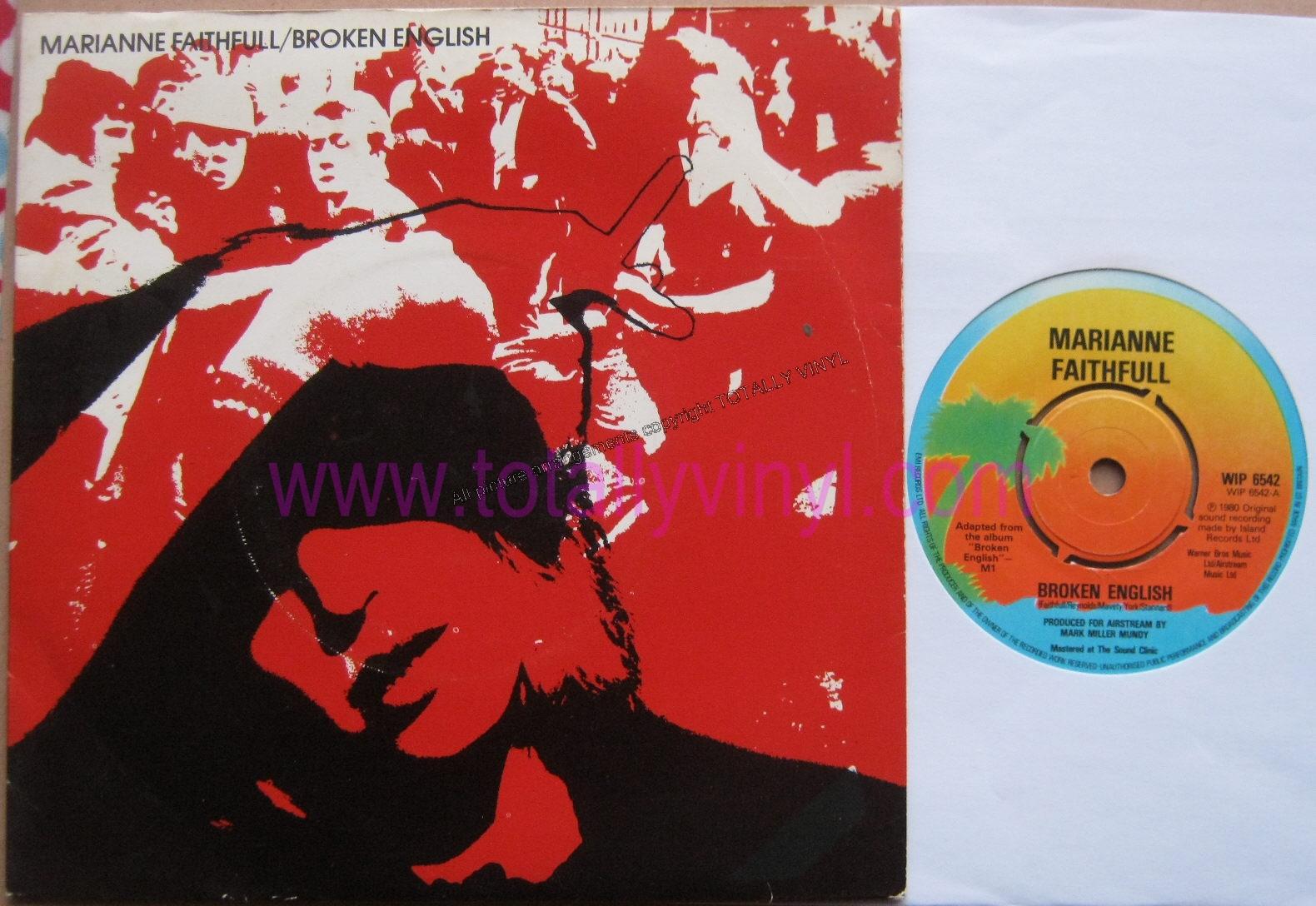 Faithfull  Marianne - Broken english What s the hurry - Island - 7    Marianne Faithfull 80s