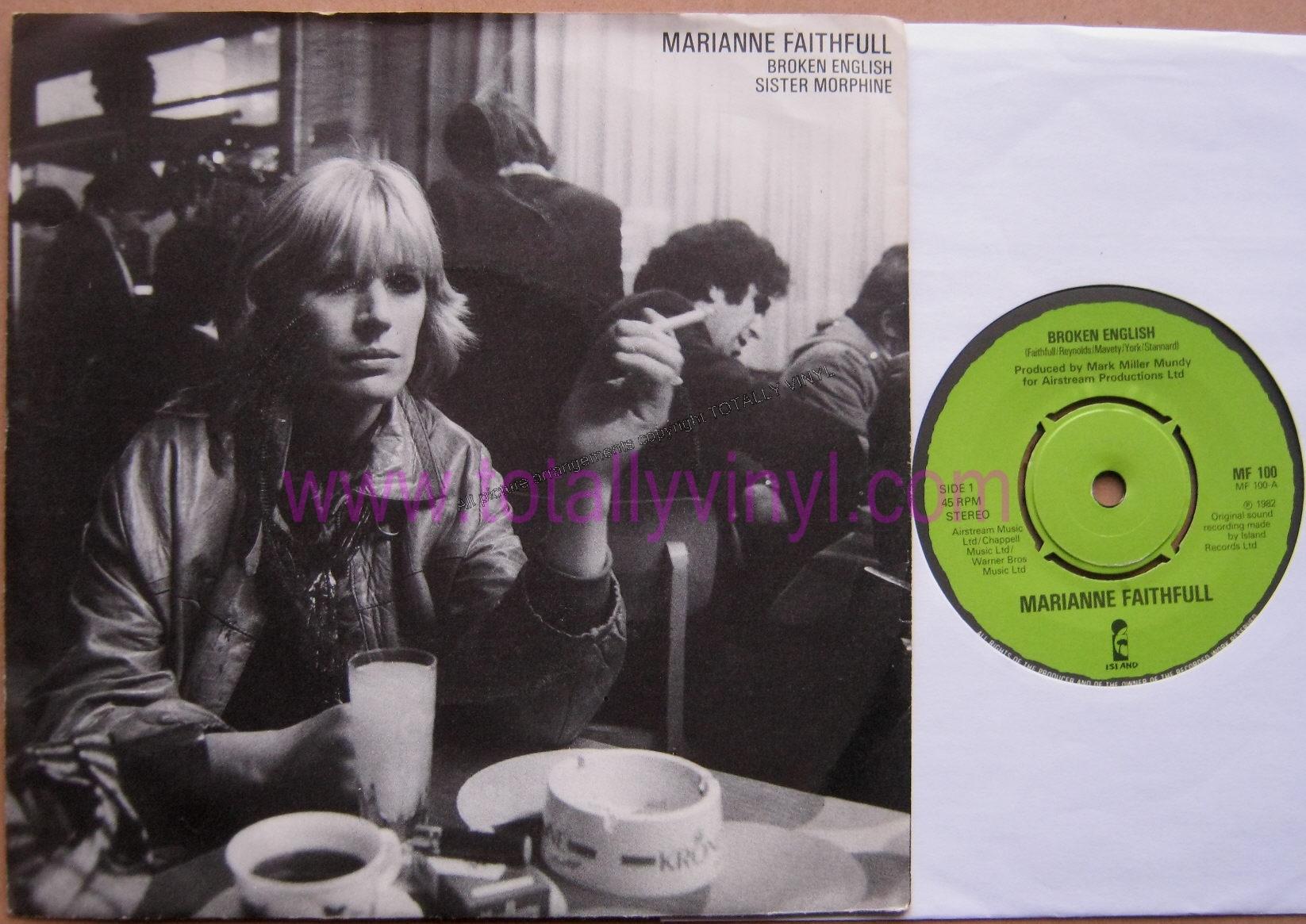 Marianne Faithfull 80s Faithfull  marianne - broken english sister    Marianne Faithfull 80s