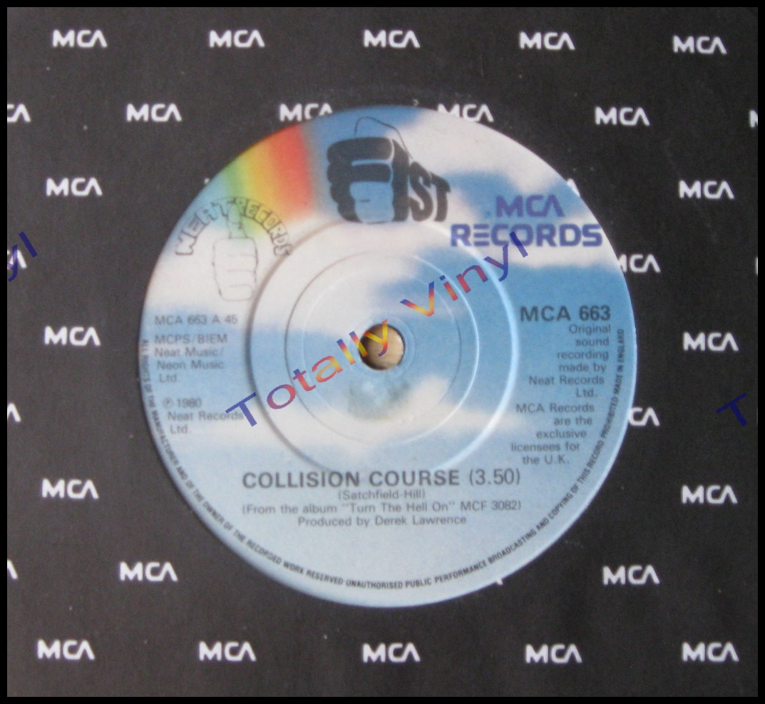 bd35d3a5 Fist - Collision course / Law of the jungle - MCA/Neat - 7 Inch - NWOBHM  Heavy Metal Rock 80s