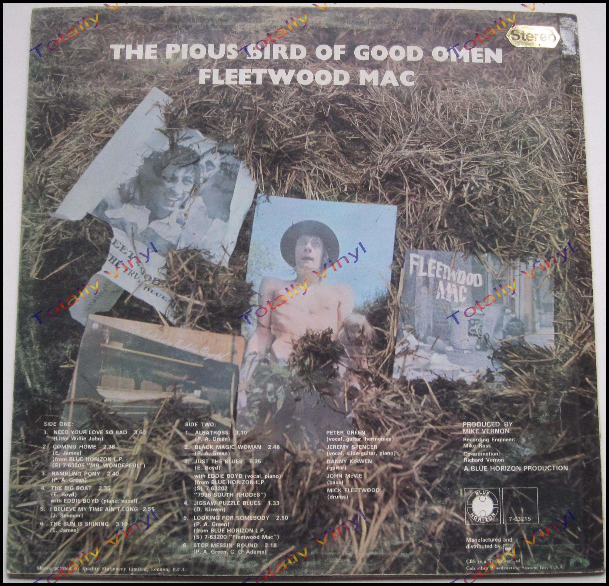 Totally Vinyl Records Fleetwood Mac The Pious Bird Of