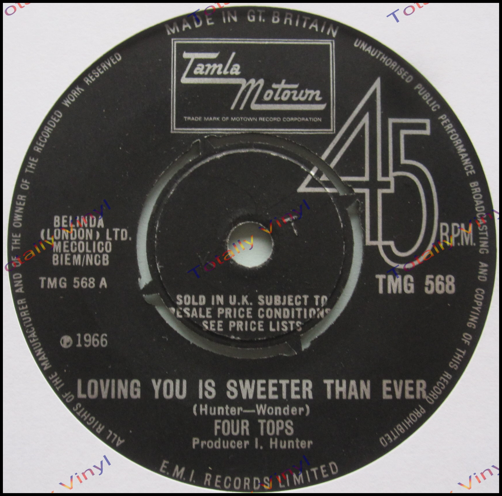 Totally Vinyl Records Four Tops The Loving You Is