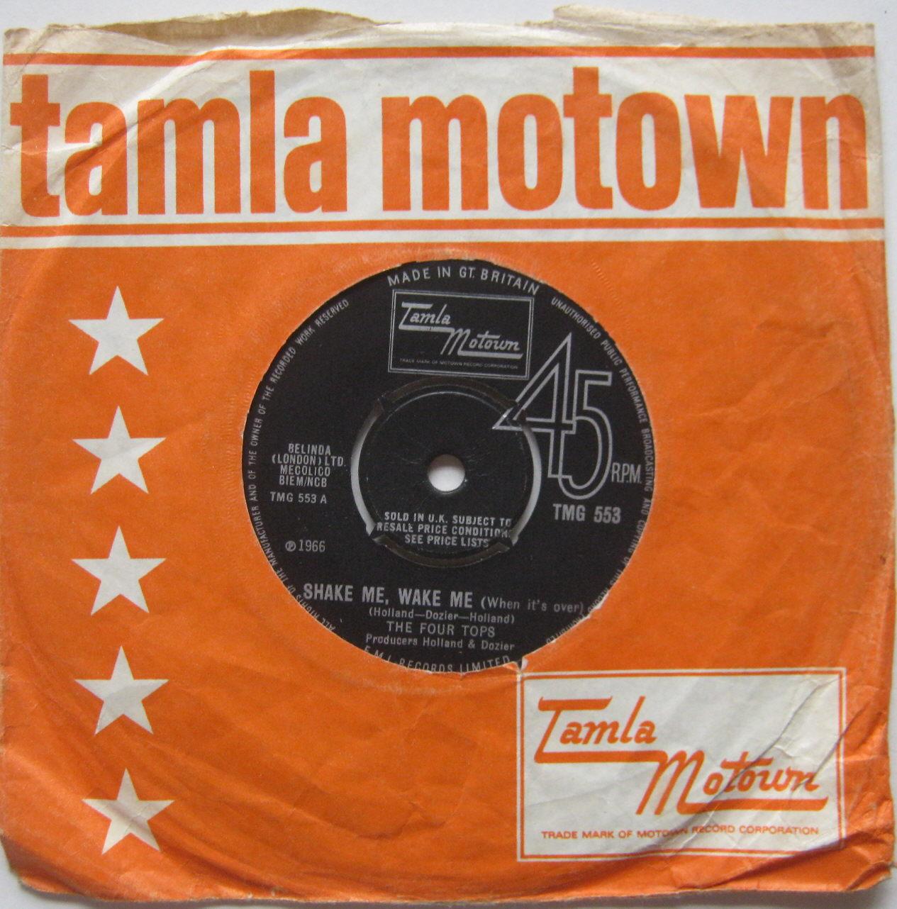 Totally Vinyl Records Four Tops The Shake Me Wake Me