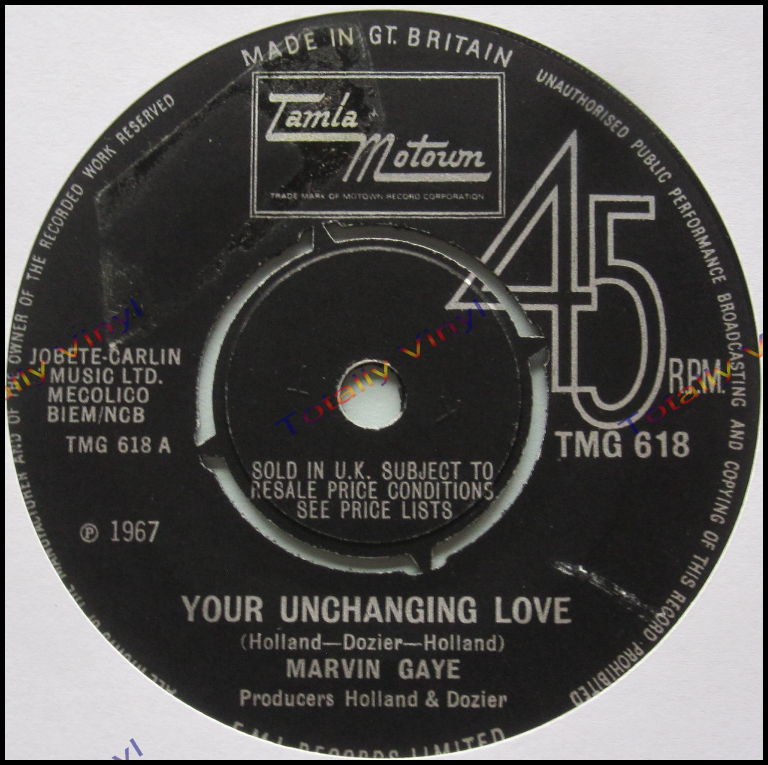 Totally Vinyl Records Gaye Marvin Your Unchanging