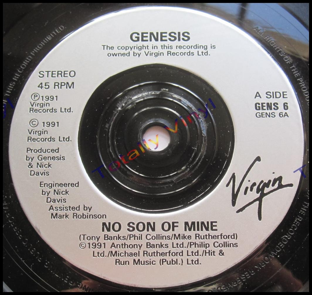 totally vinyl records genesis no son of mine living. Black Bedroom Furniture Sets. Home Design Ideas