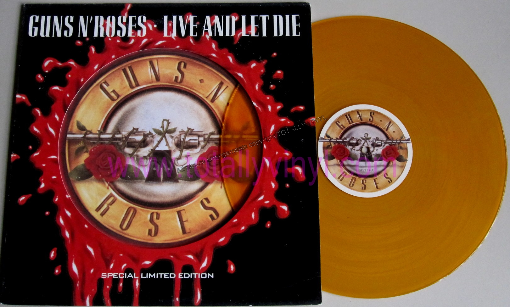 Totally Vinyl Records Guns N Roses Live And Let Die