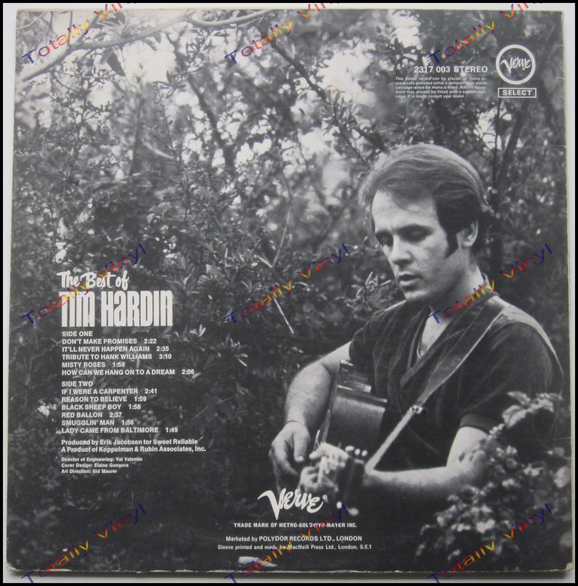 Totally Vinyl Records Hardin Tim The Best Of Tim