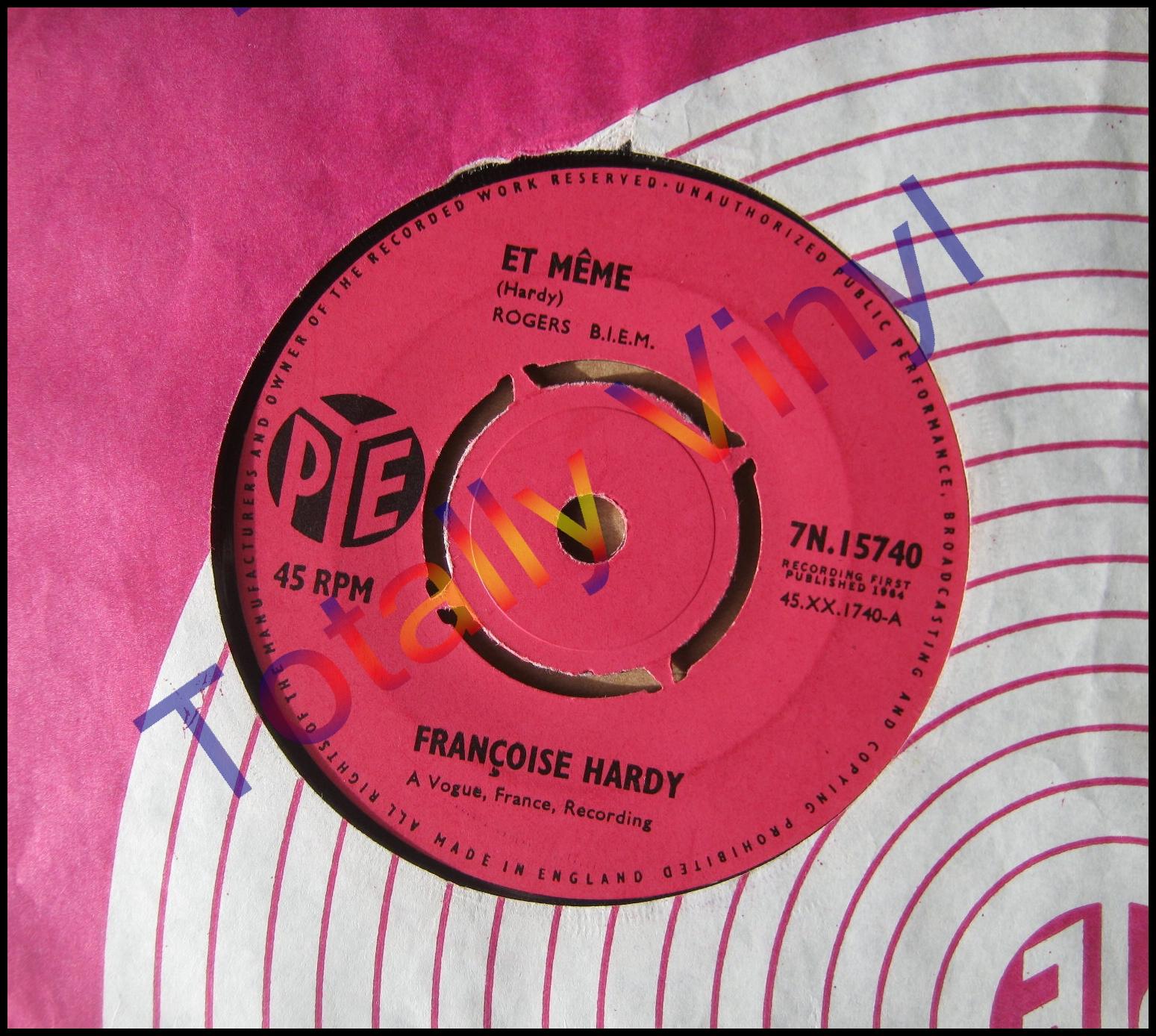 FRANCOISE_HARDY_ET_MEME_7 totally vinyl records hardy, francoise et meme le temps de,Et Meme Francoise Hardy
