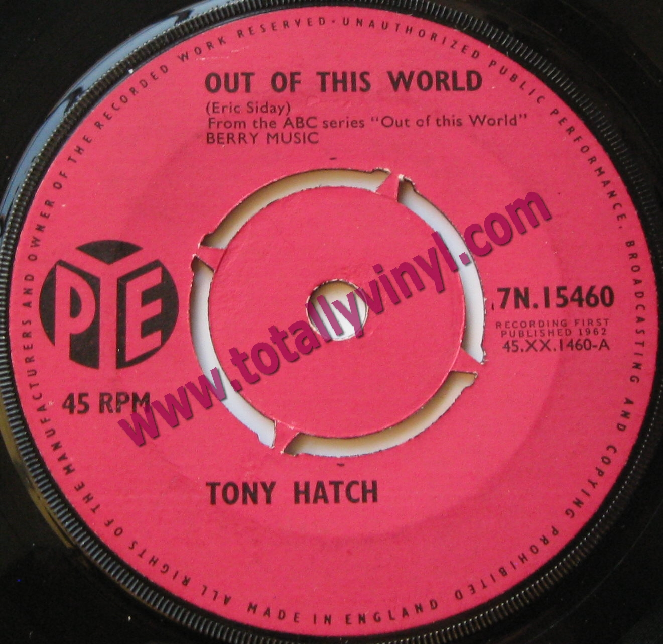 Totally Vinyl Records || Hatch Orchestra, The Tony - Out of