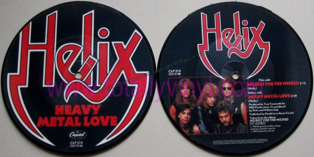 Totally Vinyl Records Helix Heavy Metal Love 7 Inch
