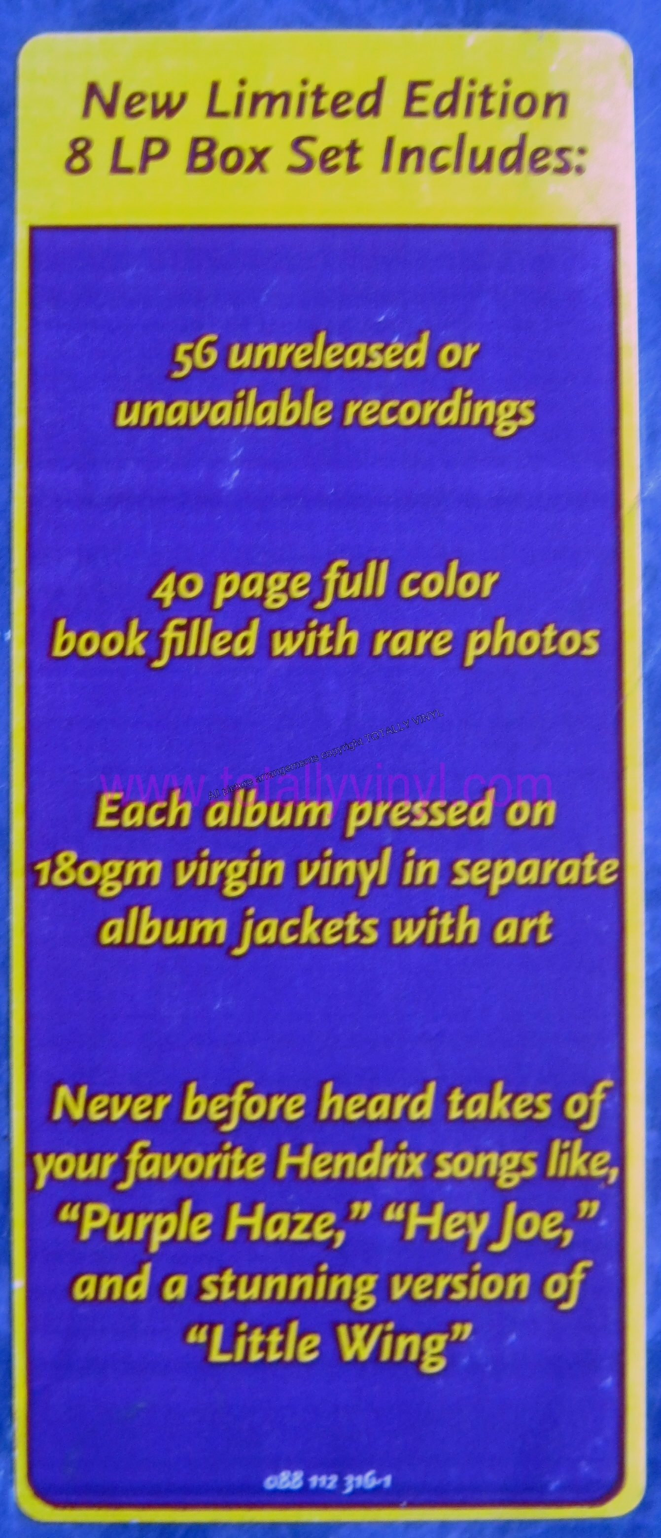 Totally Vinyl Records Hendrix Experience The Jimi
