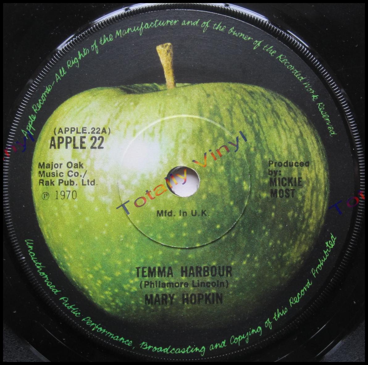 Totally Vinyl Records Hopkin Mary Temma Harbour 7