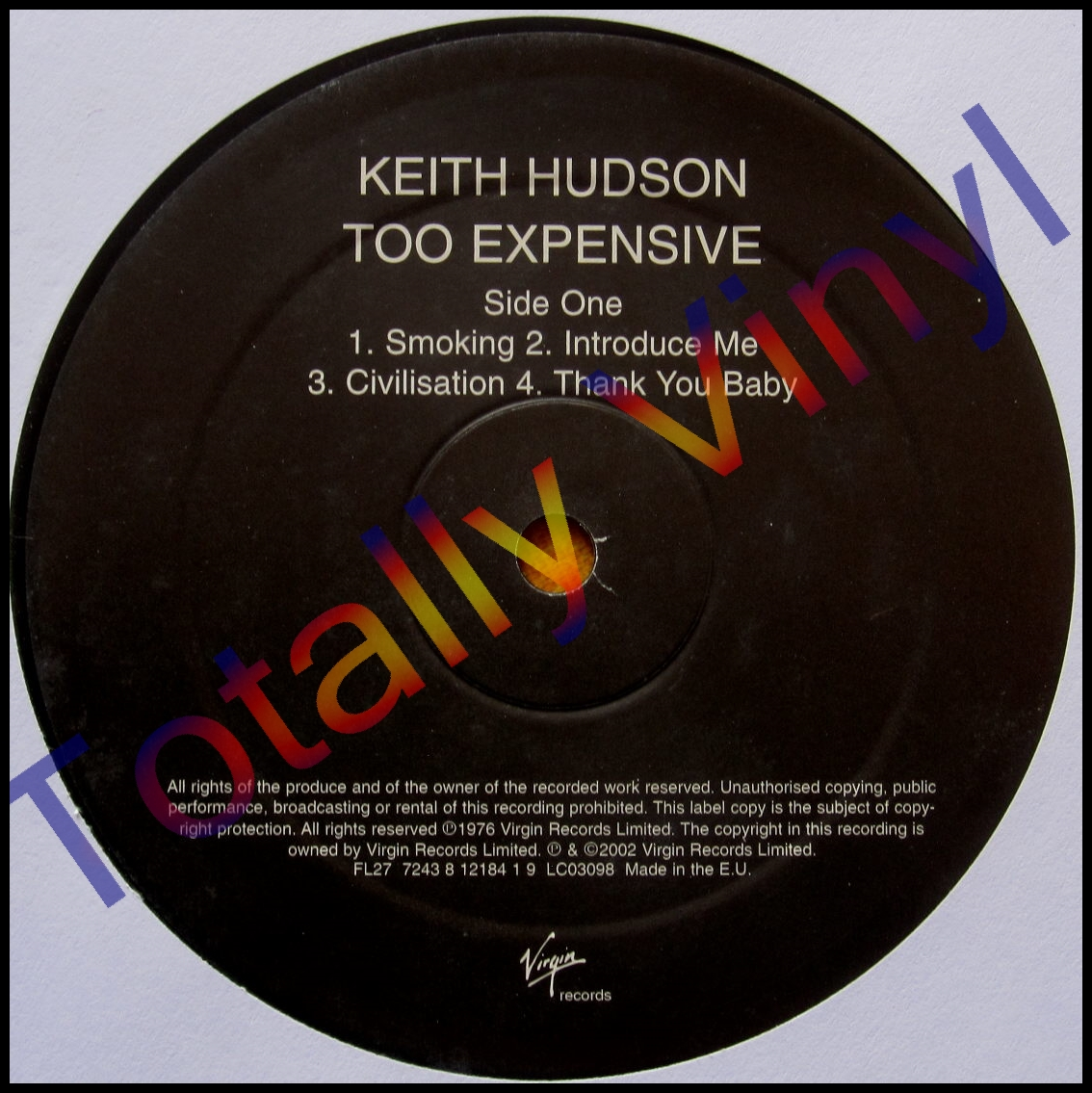 Totally Vinyl Records Hudson Keith Too Expensive Lp