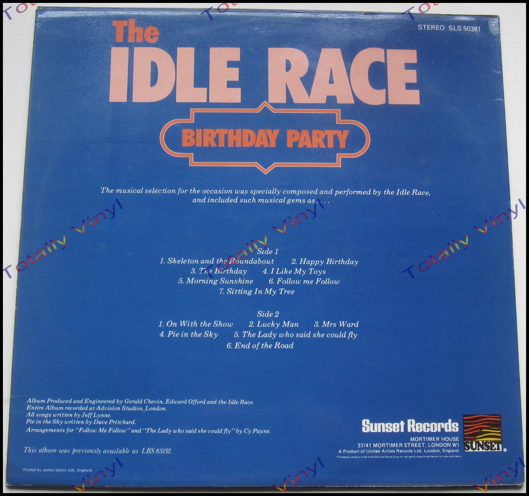 Totally Vinyl Records Idle Race The Birthday Party Lp