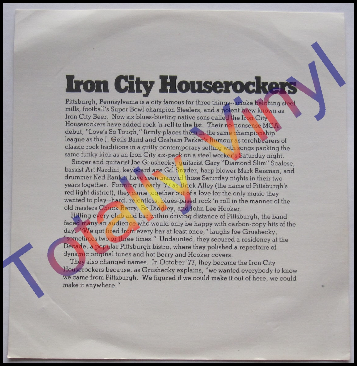 Iron City Houserockers* Houserockers, The - Cracking Under Pressure