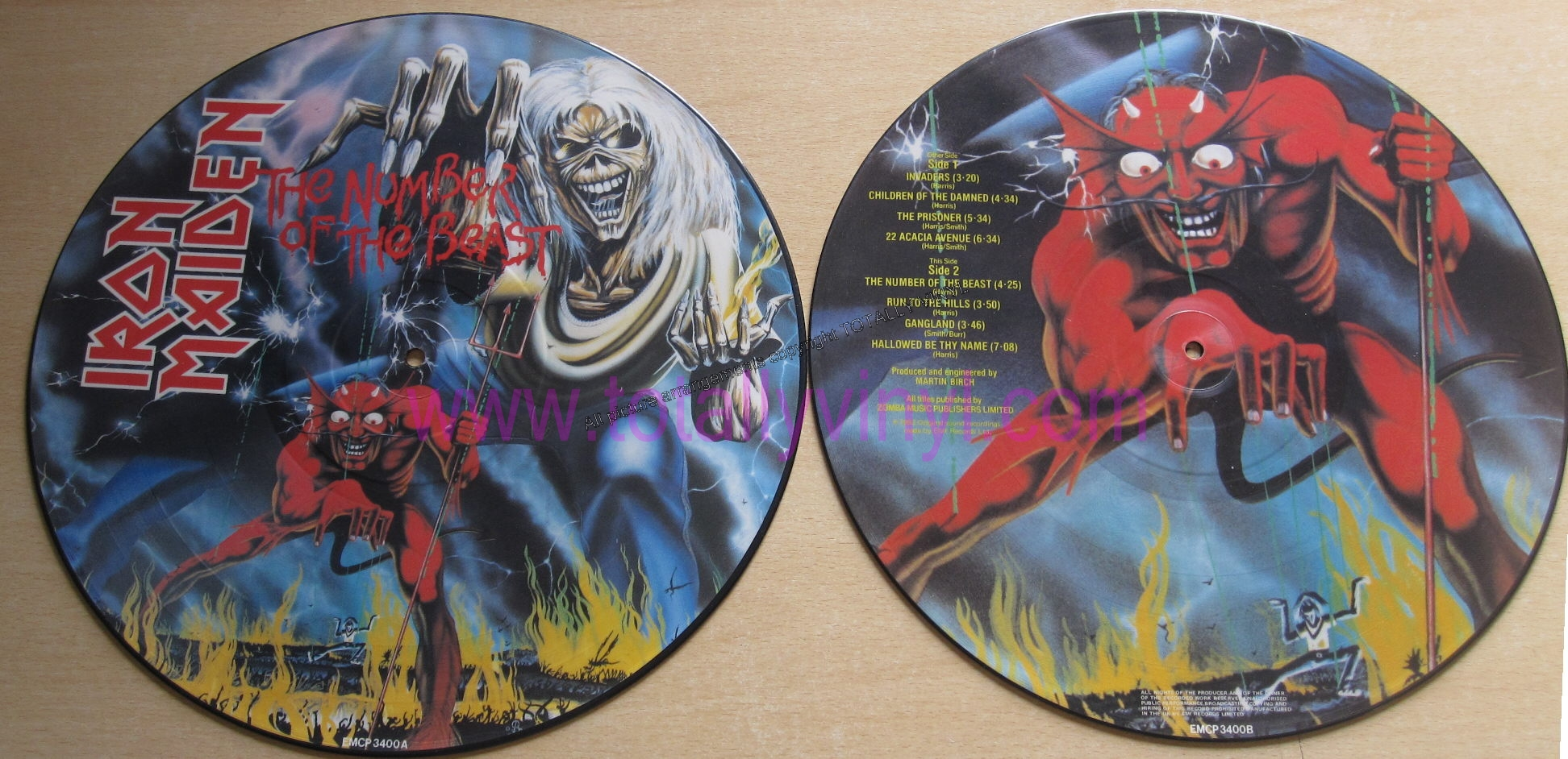 totally vinyl records iron maiden the number of the beast lp