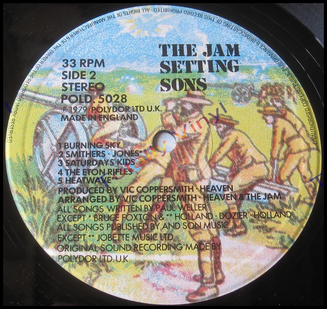 Totally Vinyl Records Jam The Setting Sons
