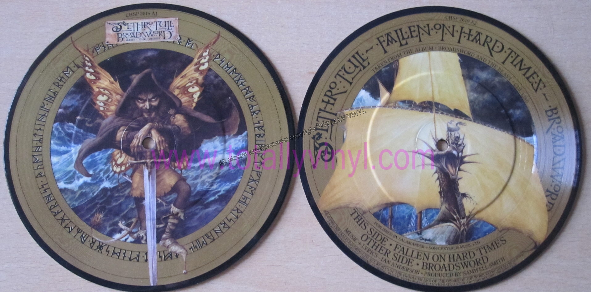 Totally Vinyl Records Jethro Tull Broadsword 7 Inch