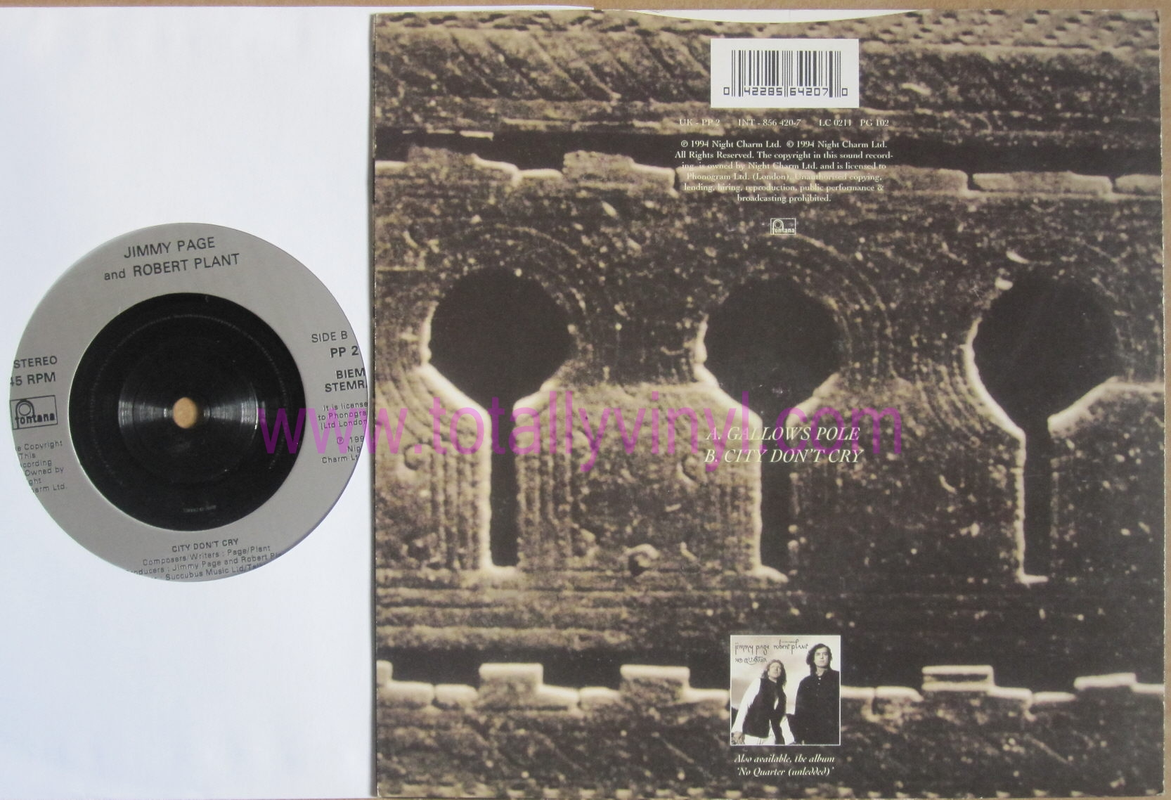 Totally Vinyl Records Page And Robert Plant Jimmy