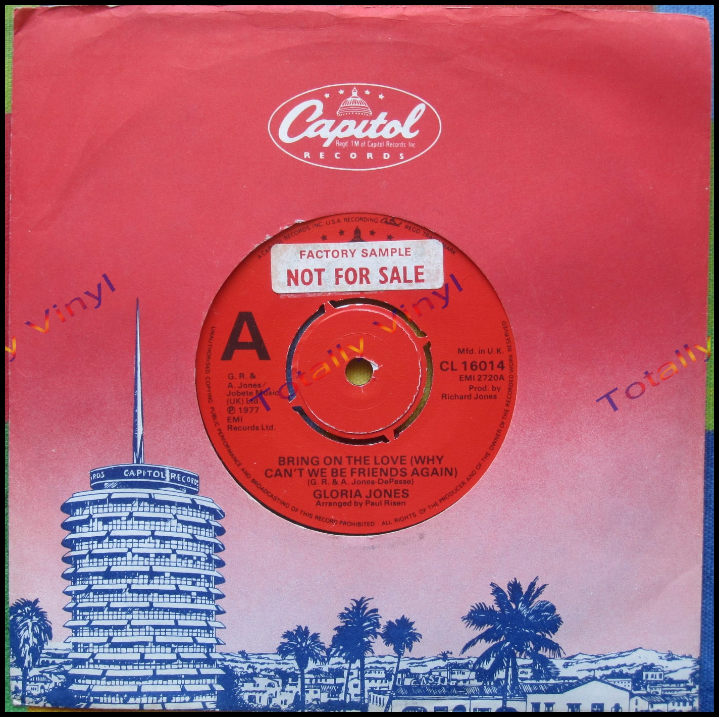 Totally Vinyl Records Jones Gloria Bring On The Love