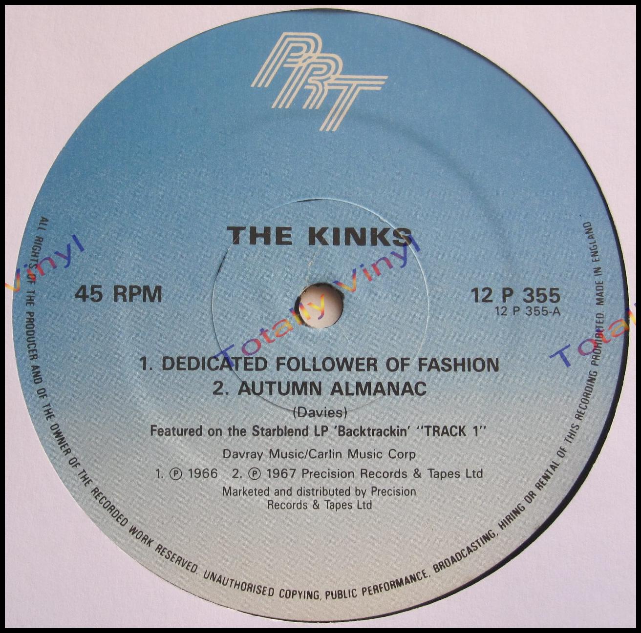 Totally Vinyl Records Kinks The Dedicated Follower