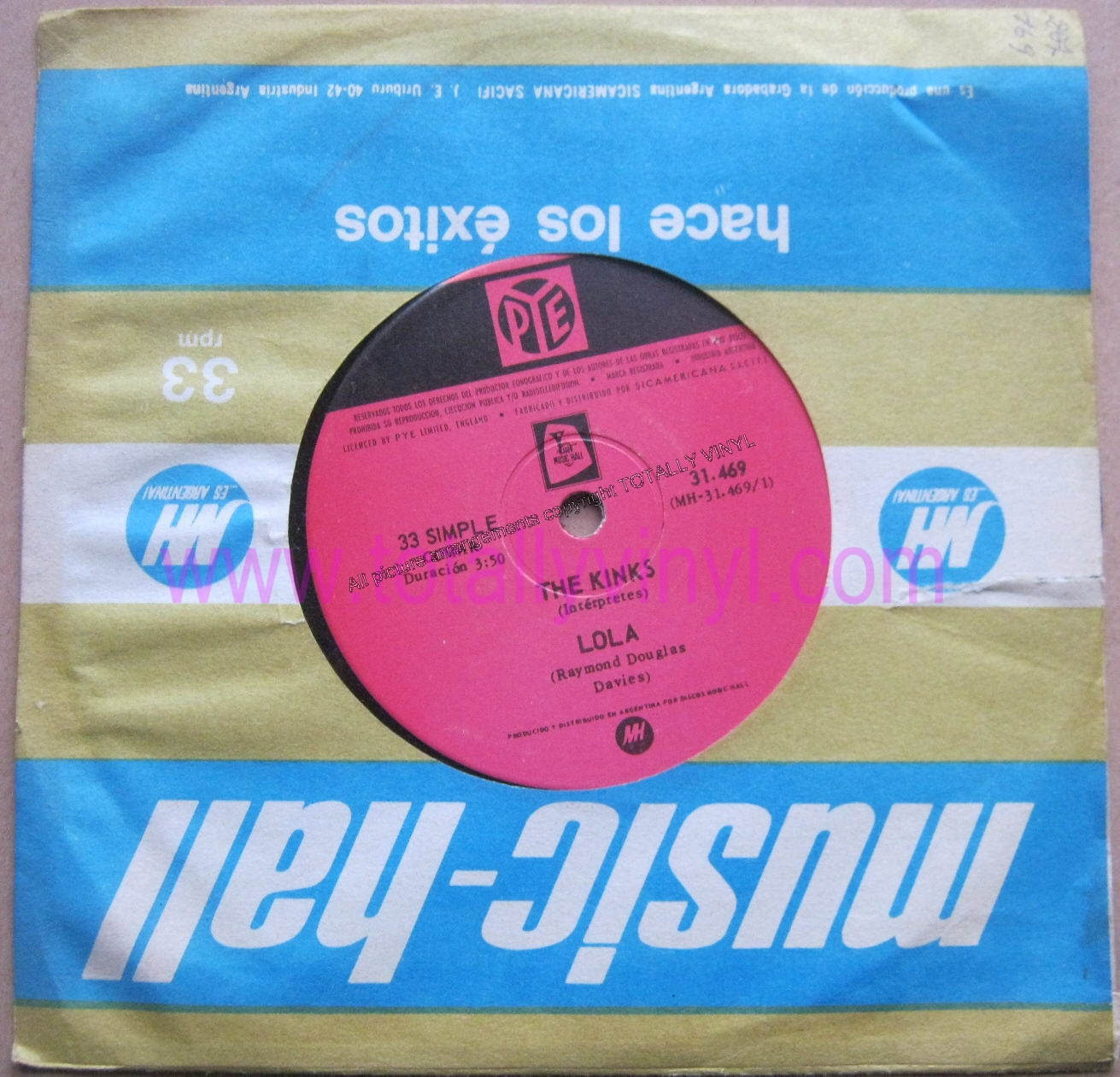 Totally Vinyl Records Kinks The Lola Corrales De
