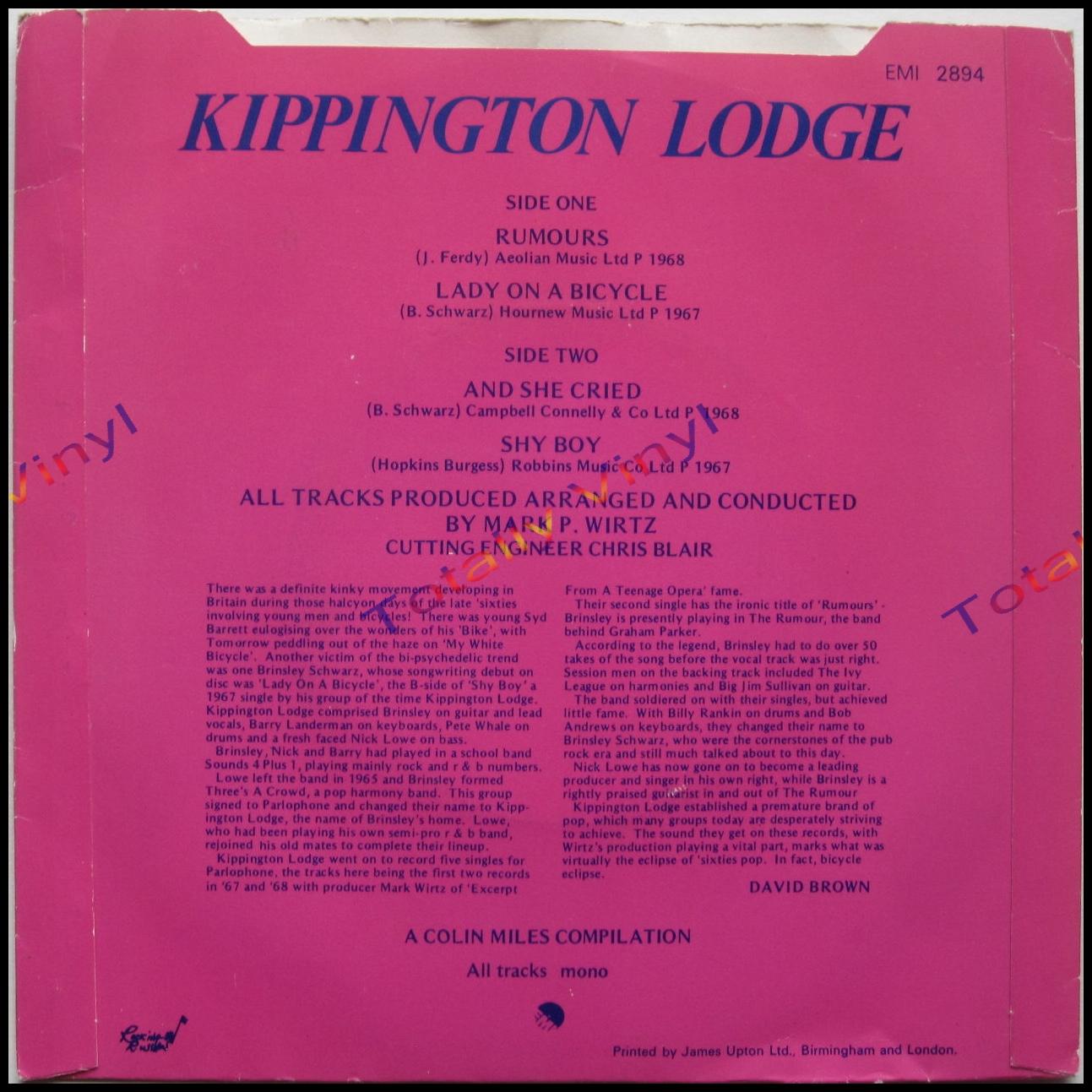 Kippington Lodge Rumours And She Cried