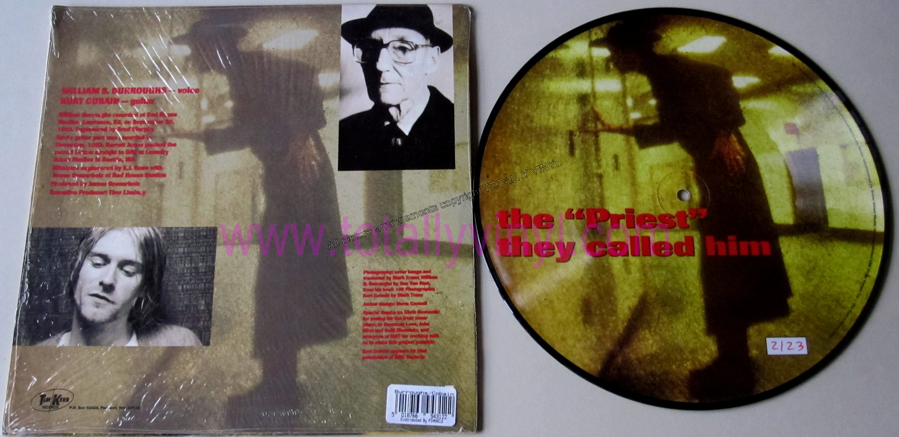 Totally Vinyl Records Cobain And William S Burroughs