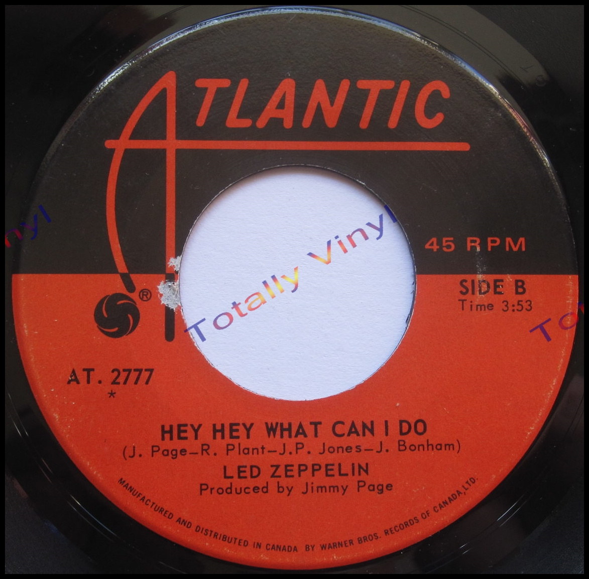totally vinyl records led zeppelin immigrant song hey hey what can i do 7 inch. Black Bedroom Furniture Sets. Home Design Ideas