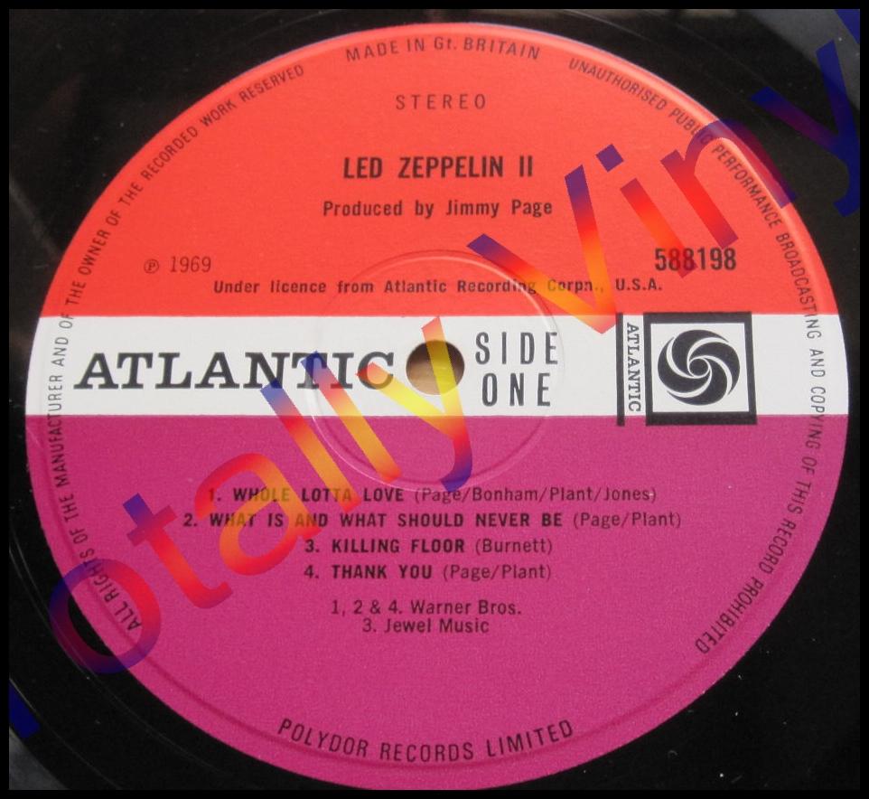 Totally Vinyl Records Led Zeppelin Led Zeppelin Ii Lp