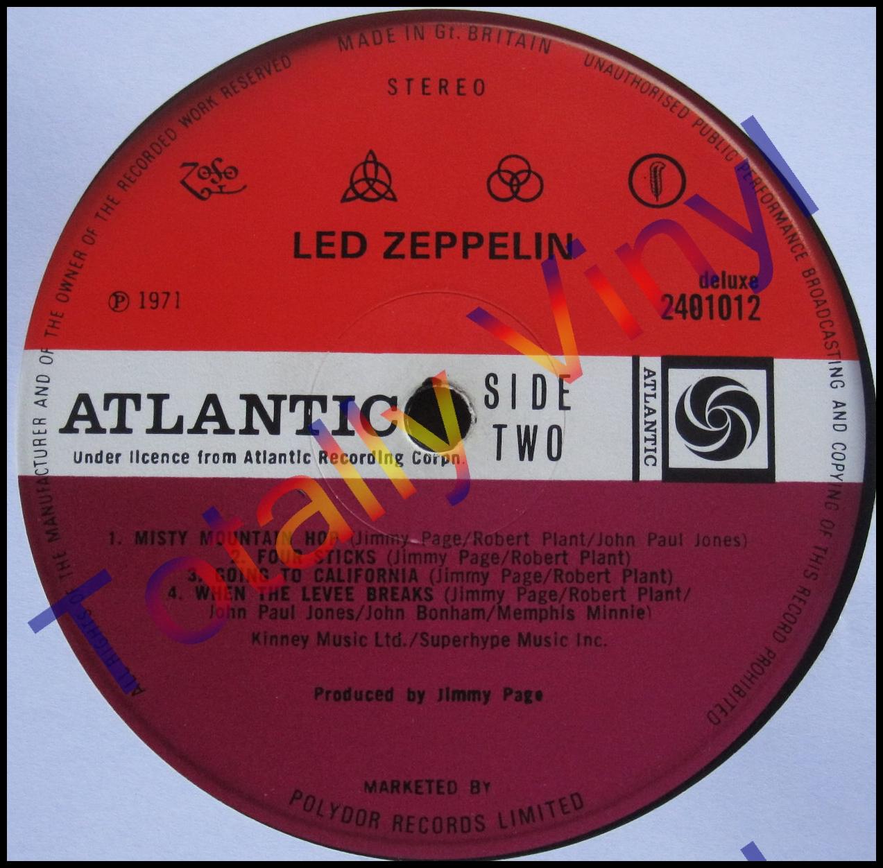 Totally Vinyl Records Led Zeppelin Led Zeppelin Iv 4