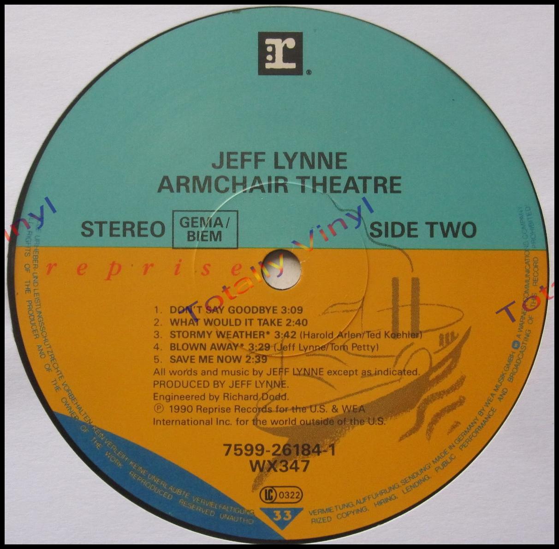Totally Vinyl Records Lynne Jeff Armchair Theatre Lp