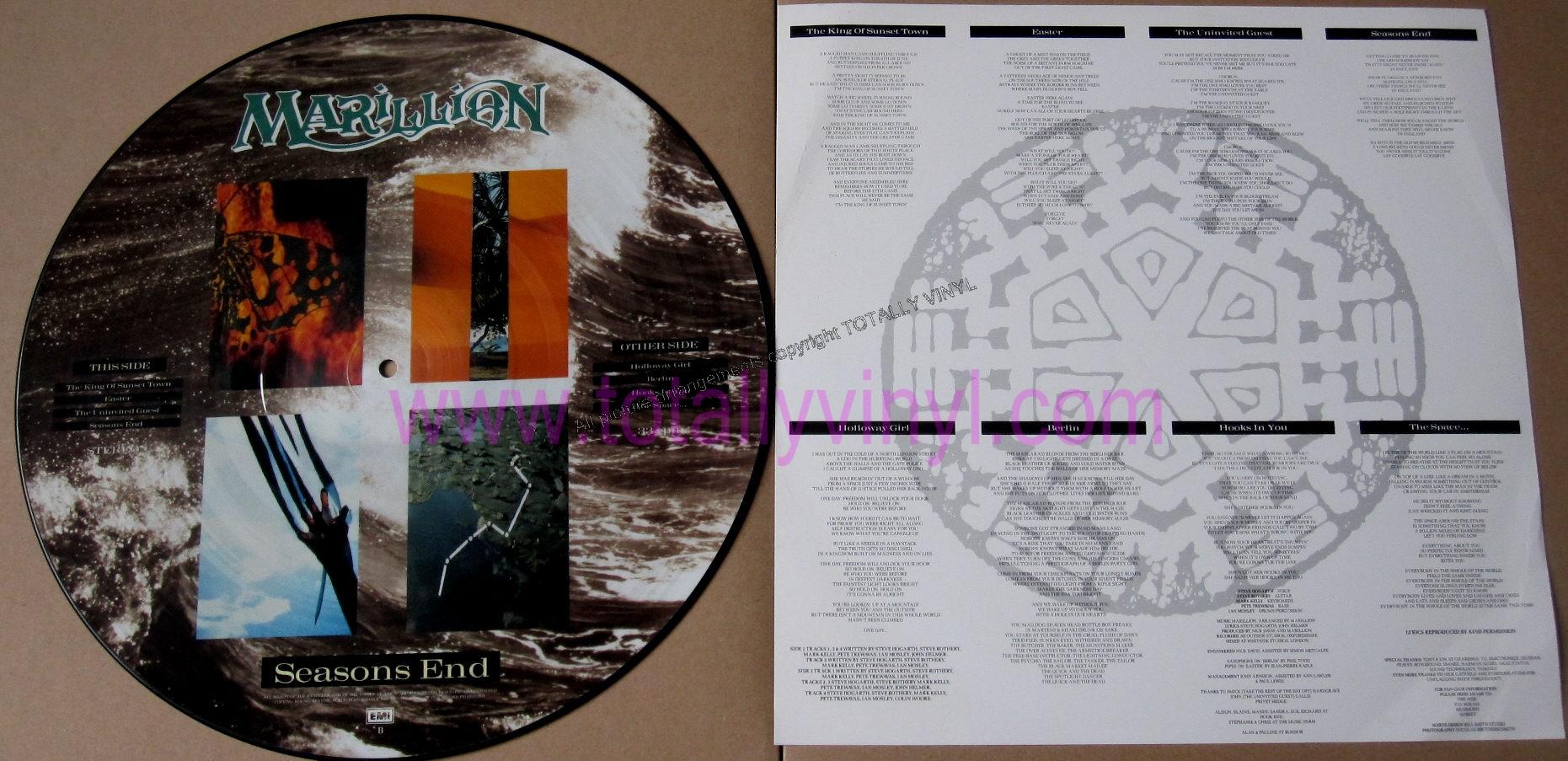 Totally Vinyl Records Marillion Season S End Lp