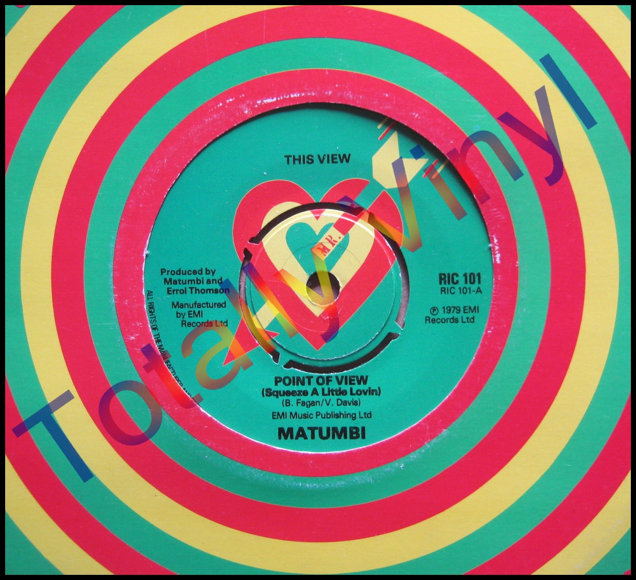 Totally Vinyl Records Matumbi Point Of View Squeeze